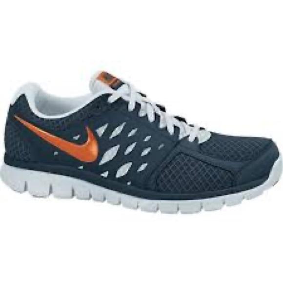Details about Men's Nike Flex Run 2013 Sz 10.5 Good Condition Gray & Navy Blue